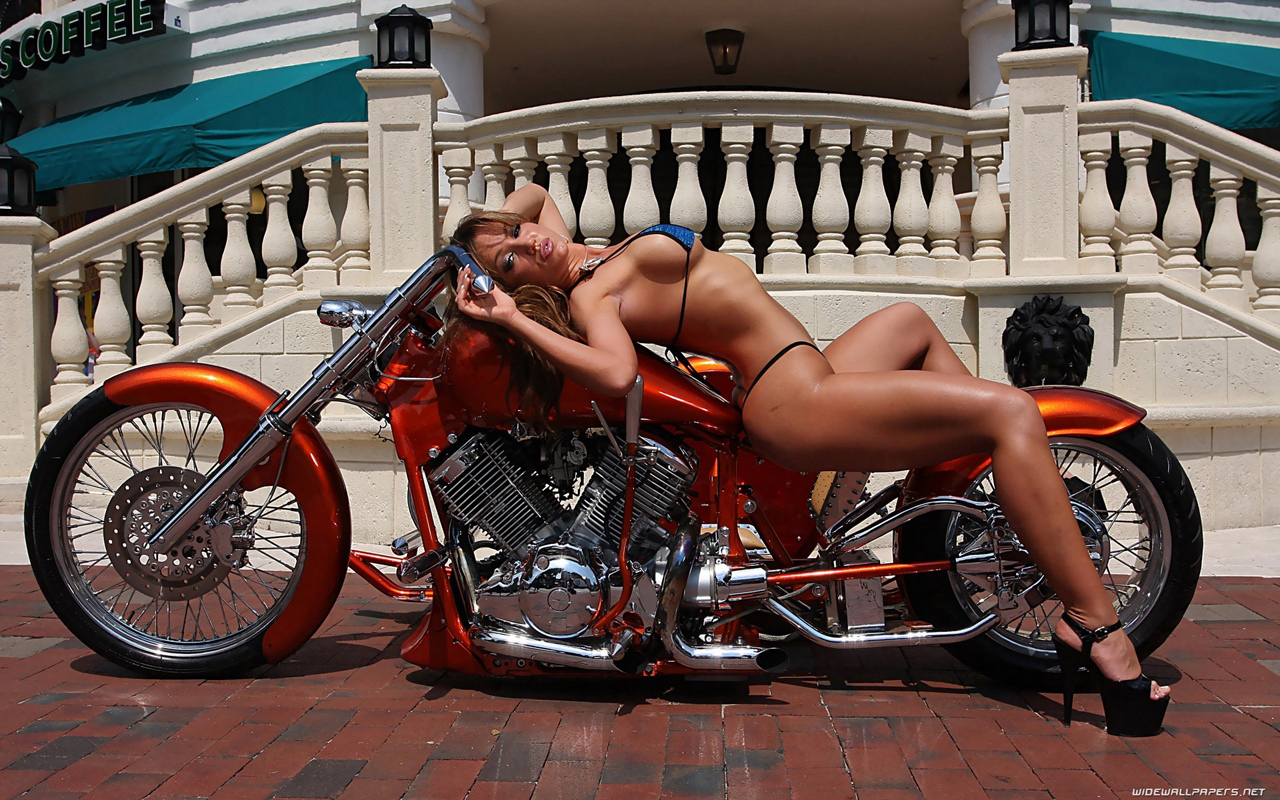 Hot girls and bikes desktop wallpapers HD and wide wallpapers