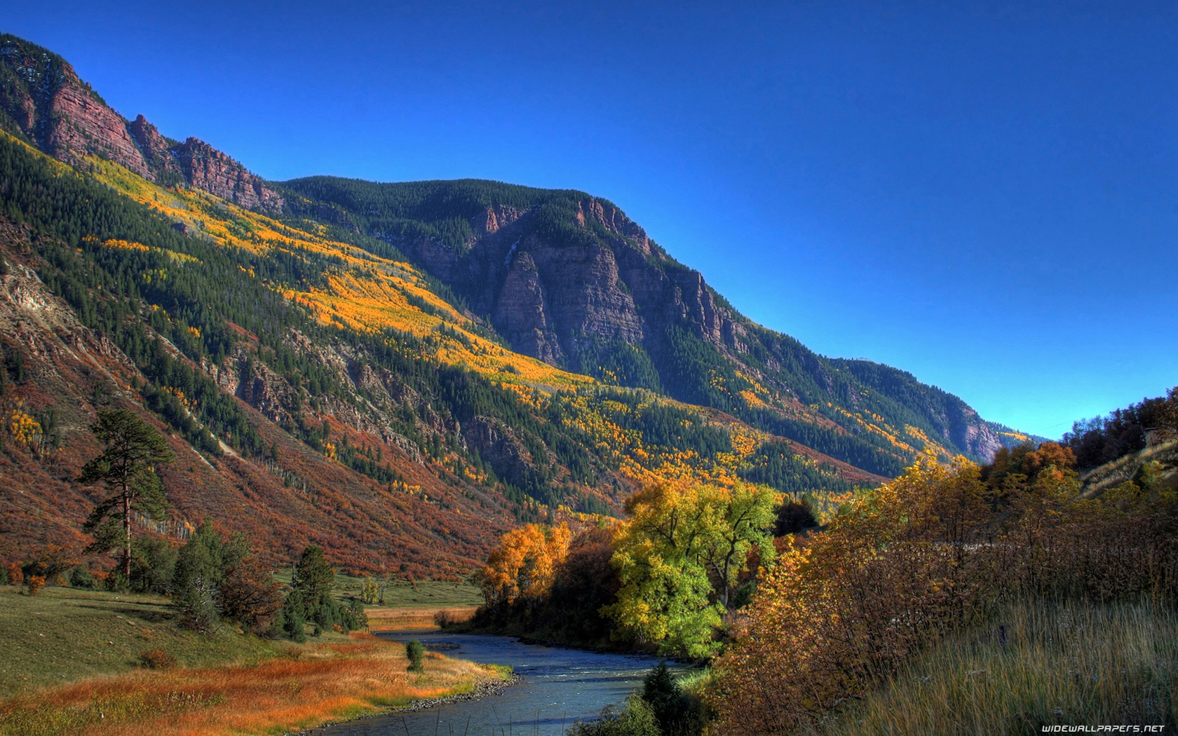 Autumn mountain wallpaper widescreen