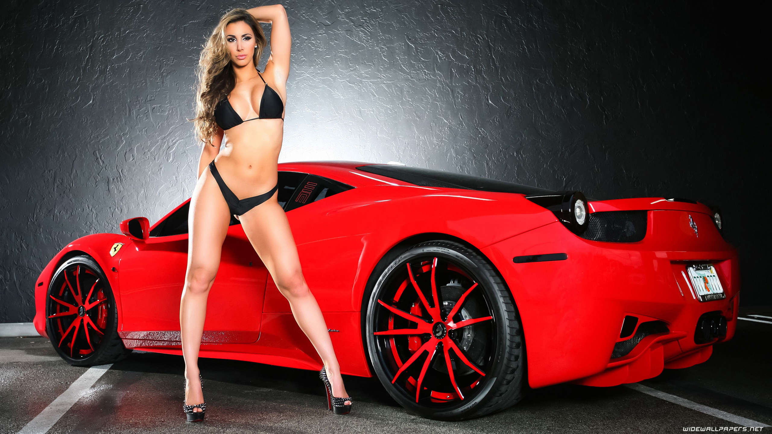 Ferrari Cars And Girls Desktop Wallpapers 4k Ultra Hd