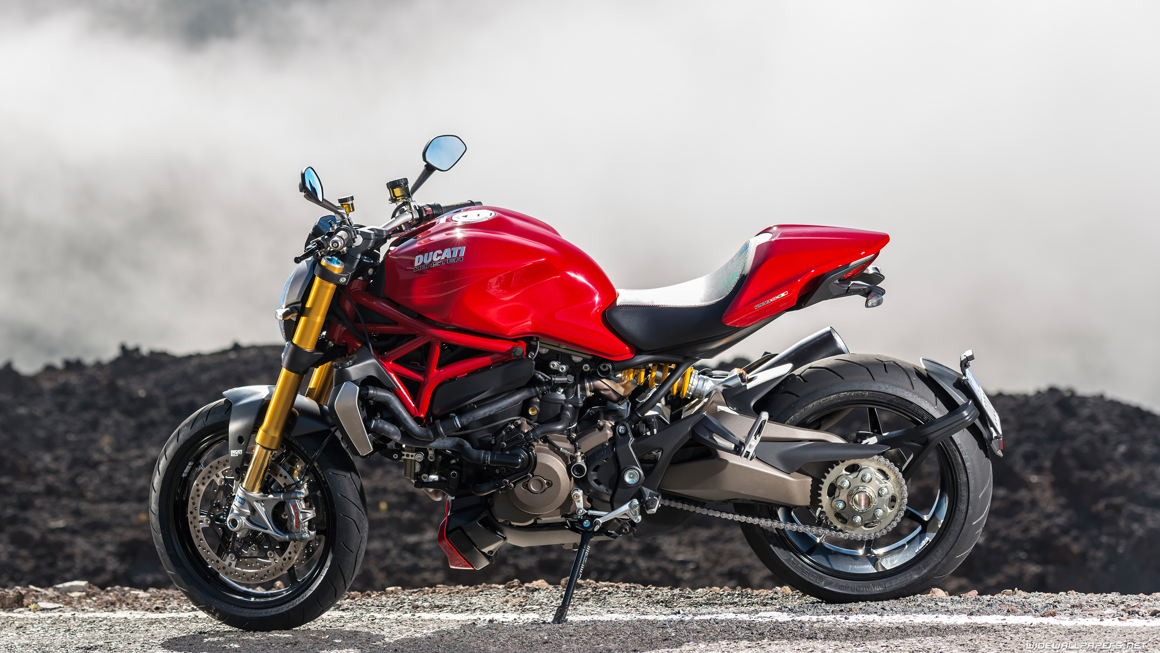 Ducati Monster 1200 S Motorcycle Wallpapers 4K Ultra HD