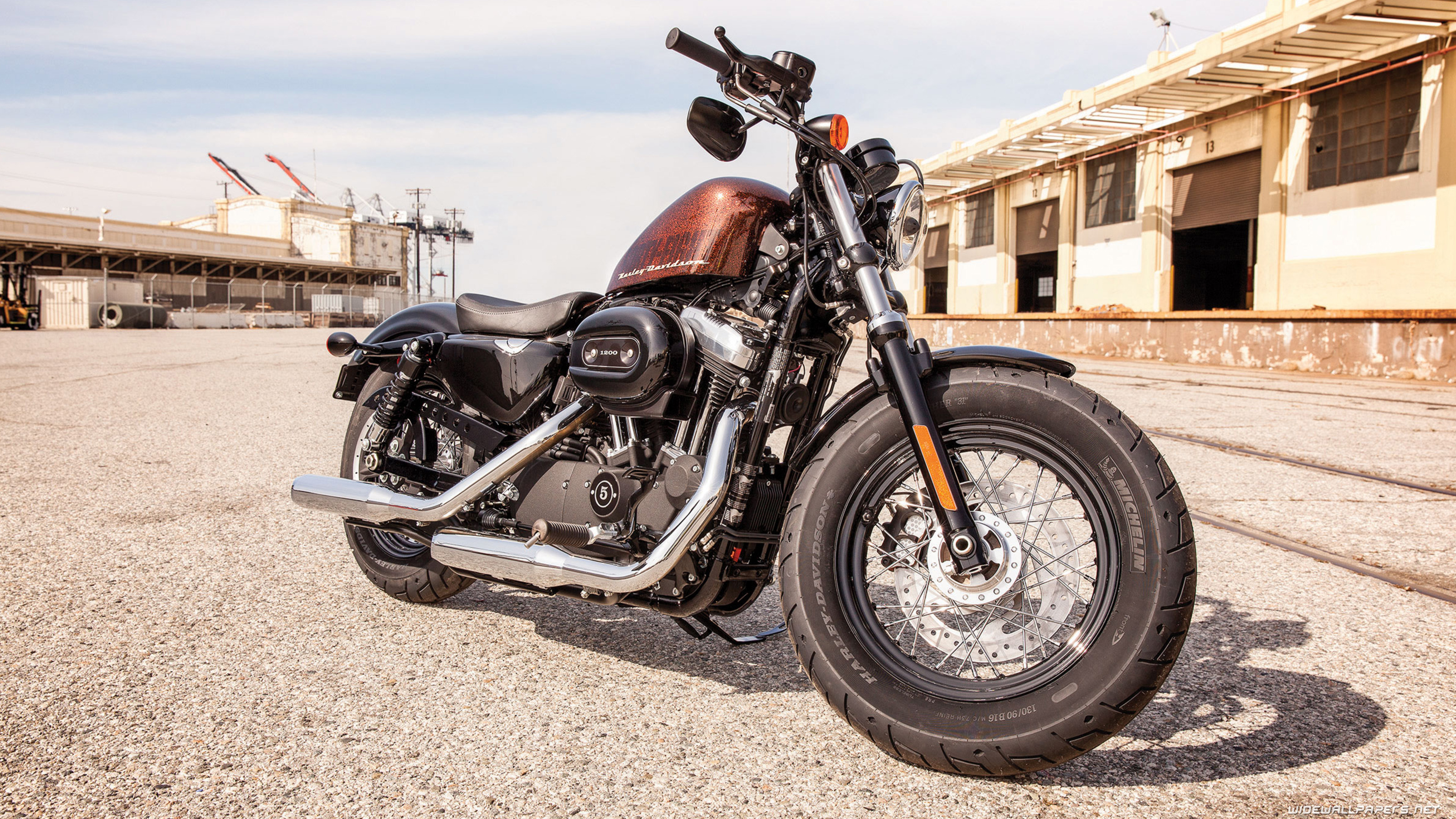 Harley Davidson Sportster 1200X Forty Eight Motorcycle Wallpapers 4K Ultra HD